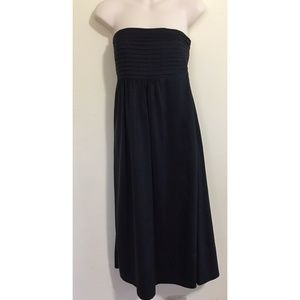 Banana Republic Size 0 Black Silk Dress Strapless